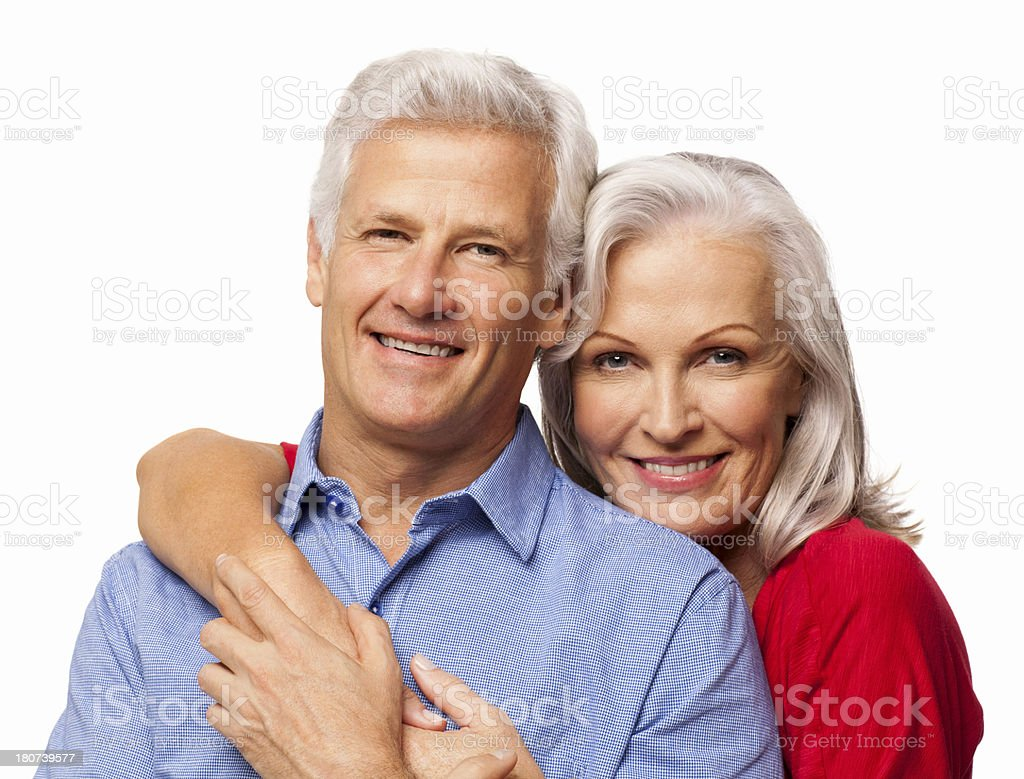 Affectionate Senior Couple - Isolated royalty-free stock photo