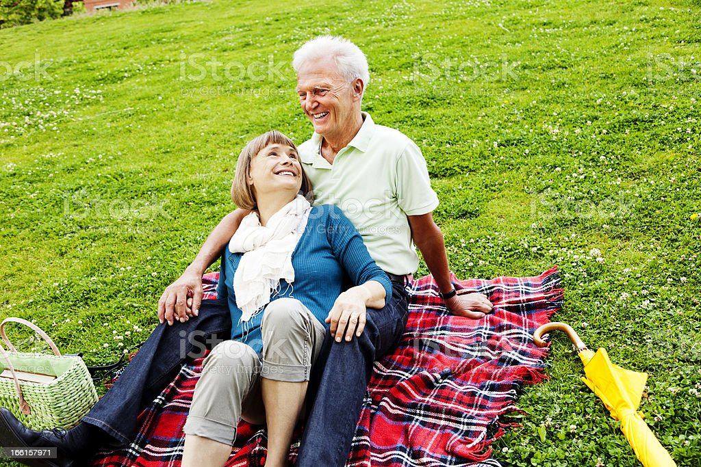 Affectionate Senior Couple royalty-free stock photo