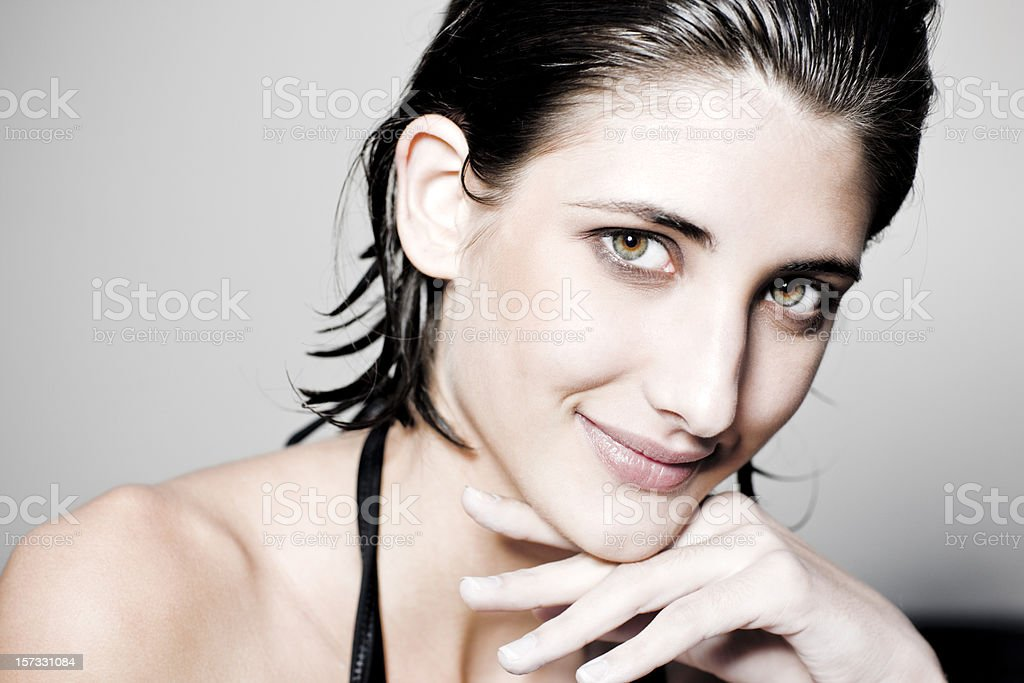 Affectionate Smiling Young Woman royalty-free stock photo