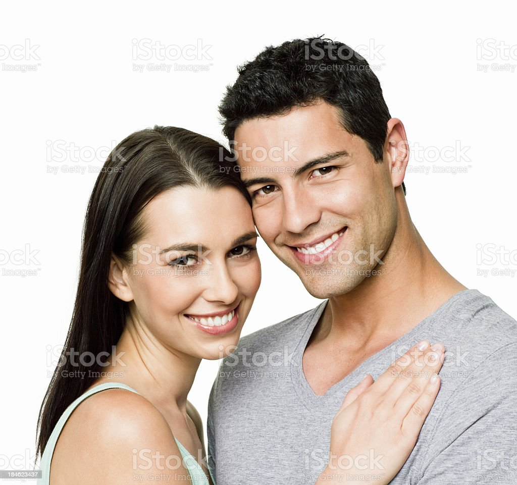 Affectionate Young Couple - Isolated royalty-free stock photo