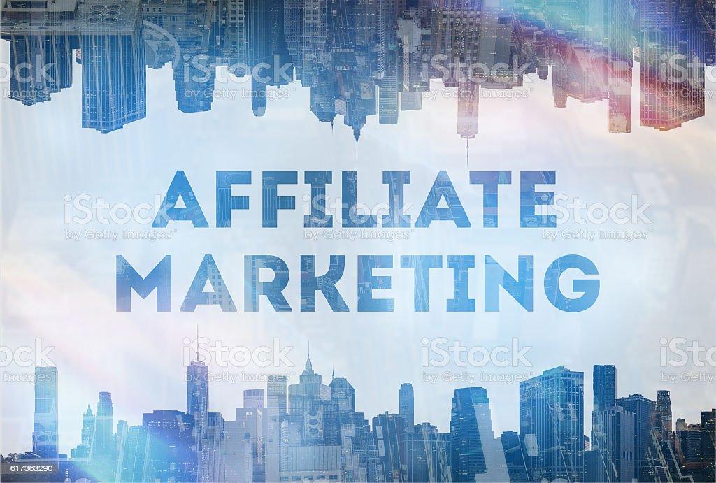 affiliate marketing concept image stock photo