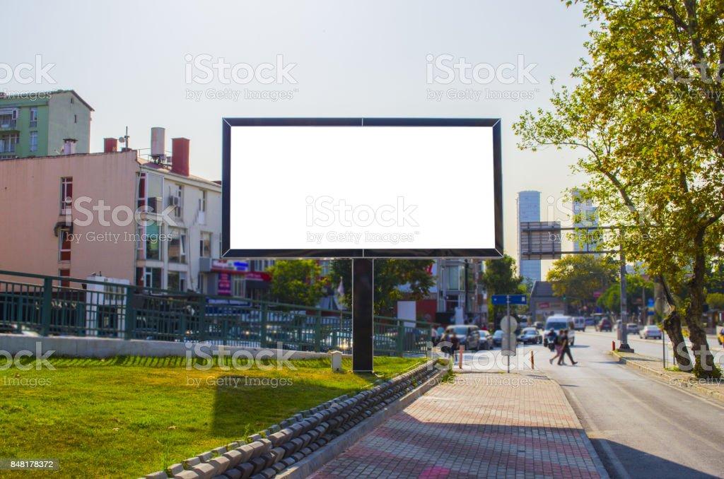 Affissione pubblicitaria stock photo