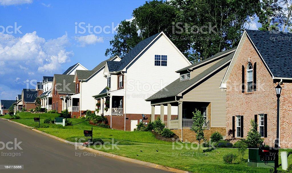 affluent neighborhood royalty-free stock photo