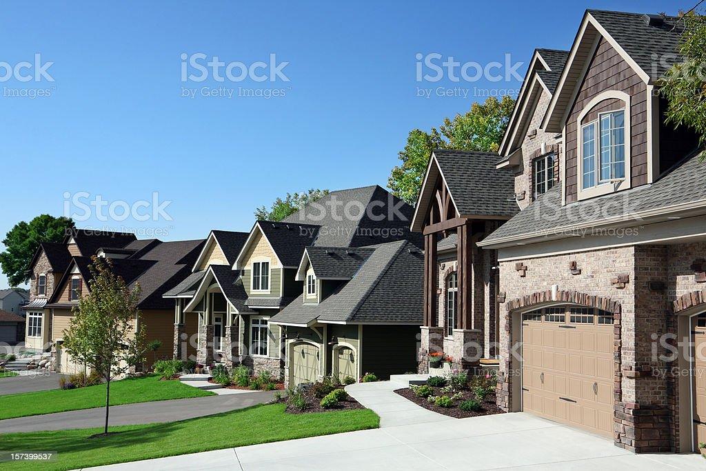 Affluent Suburban Street stock photo