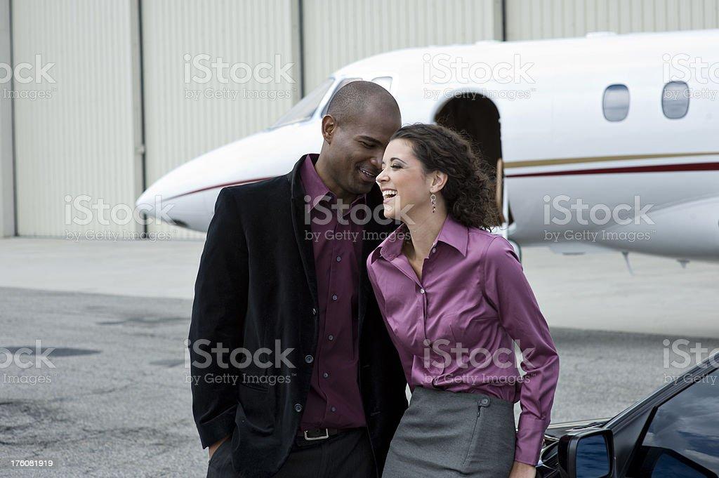 Affluent Travel - Ethnic couple enjoying life royalty-free stock photo