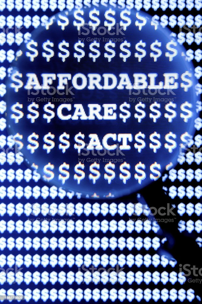Affordable Care Act royalty-free stock photo