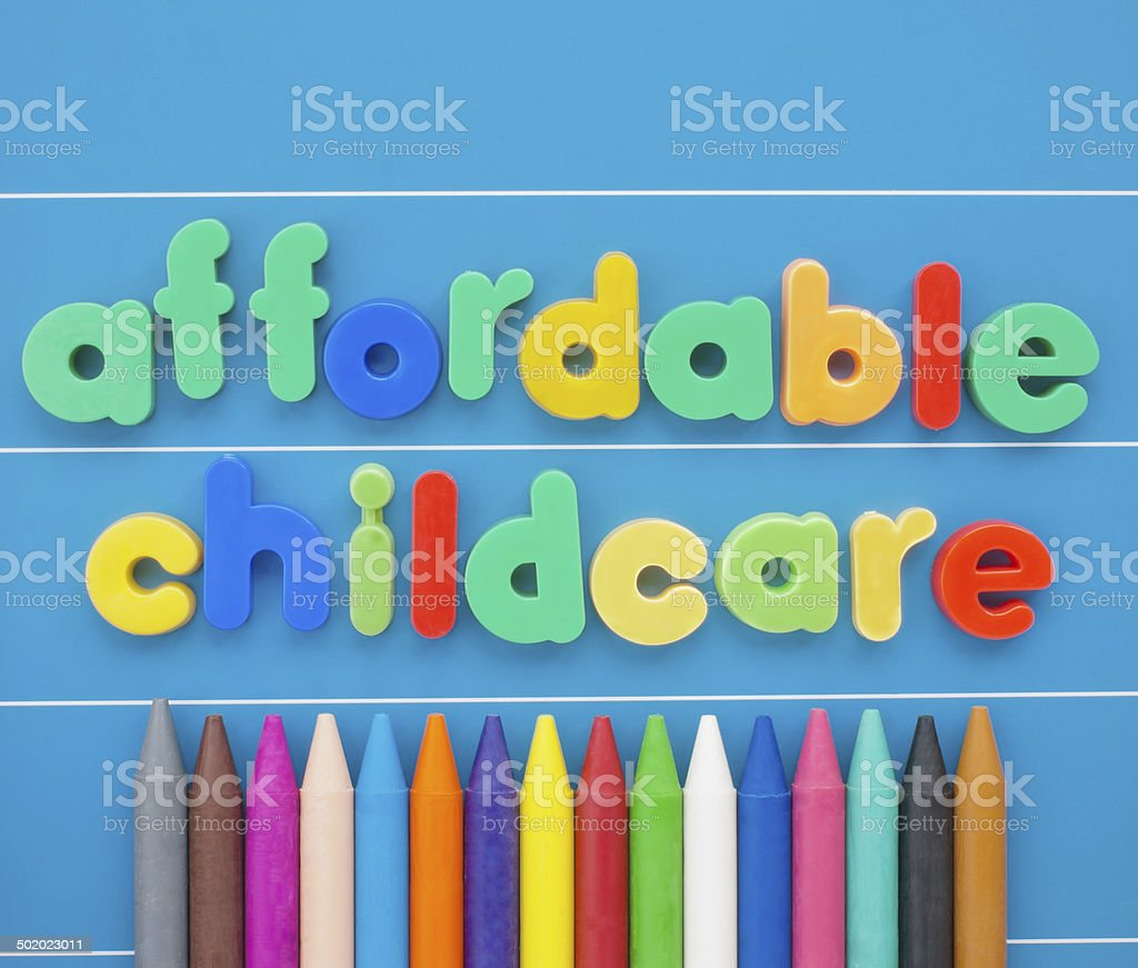 Affordable Childcare stock photo