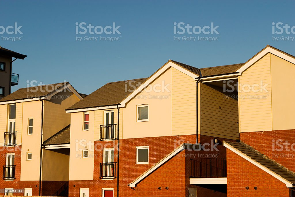 affordable homes royalty-free stock photo