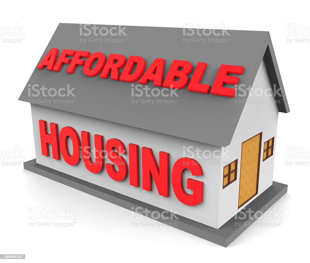 Affordable Housing Represents Low Cost And Apartment 3d Renderin stock photo