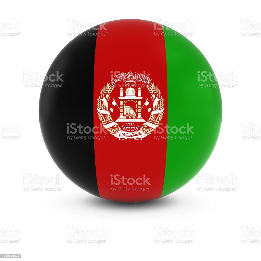 Afghan Flag Ball - Flag of Afghanistan on Isolated Sphere stock photo