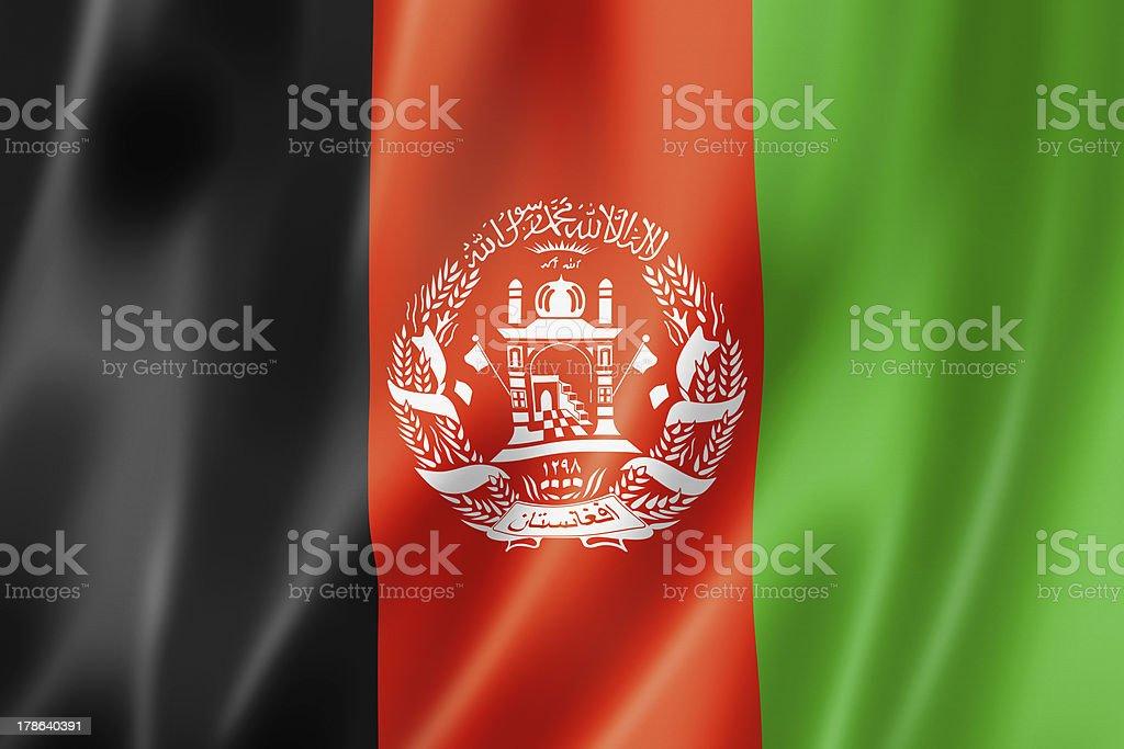 Afghan flag stock photo