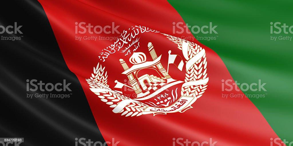 Afghan flag. royalty-free stock photo