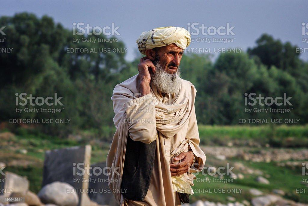 Afghan man stock photo