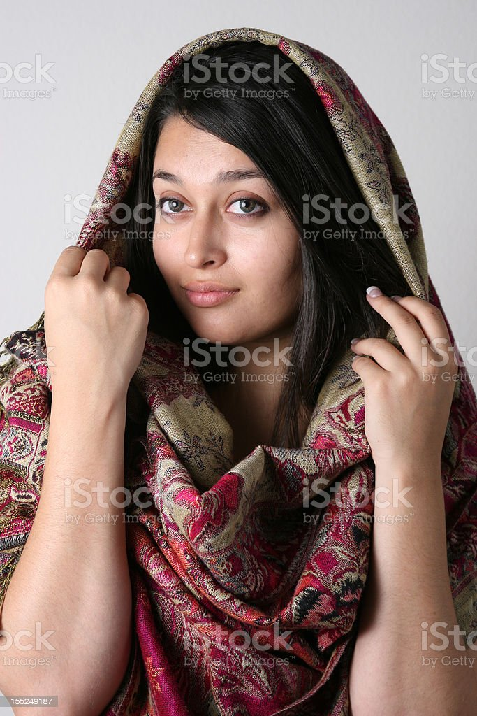 Afghan model with penetrating eyes stock photo