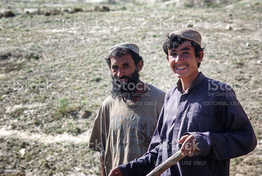 Afghan people stock photo