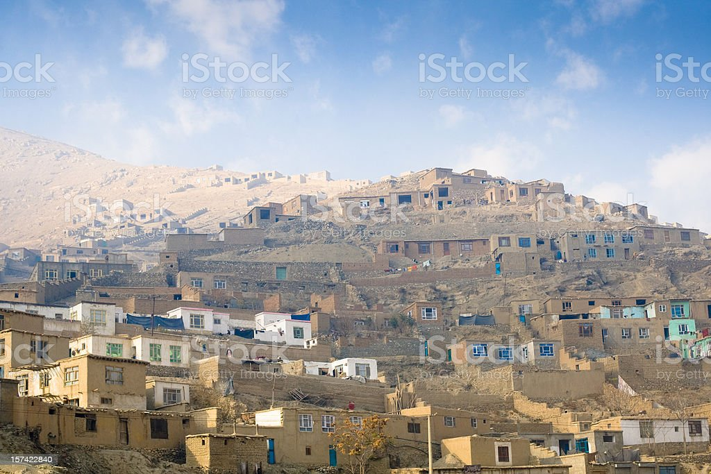 Afghan Village stock photo