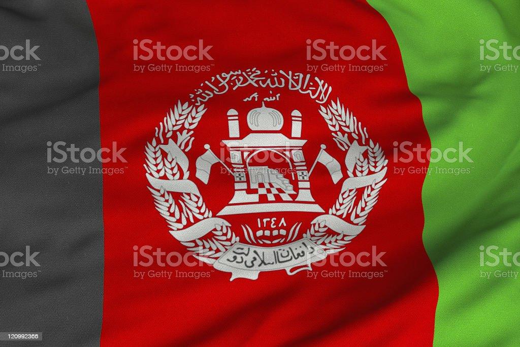 Afghani Flag stock photo