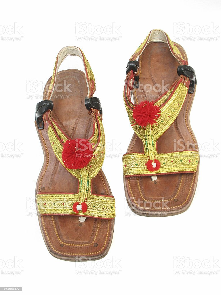 Afghani Sandals stock photo