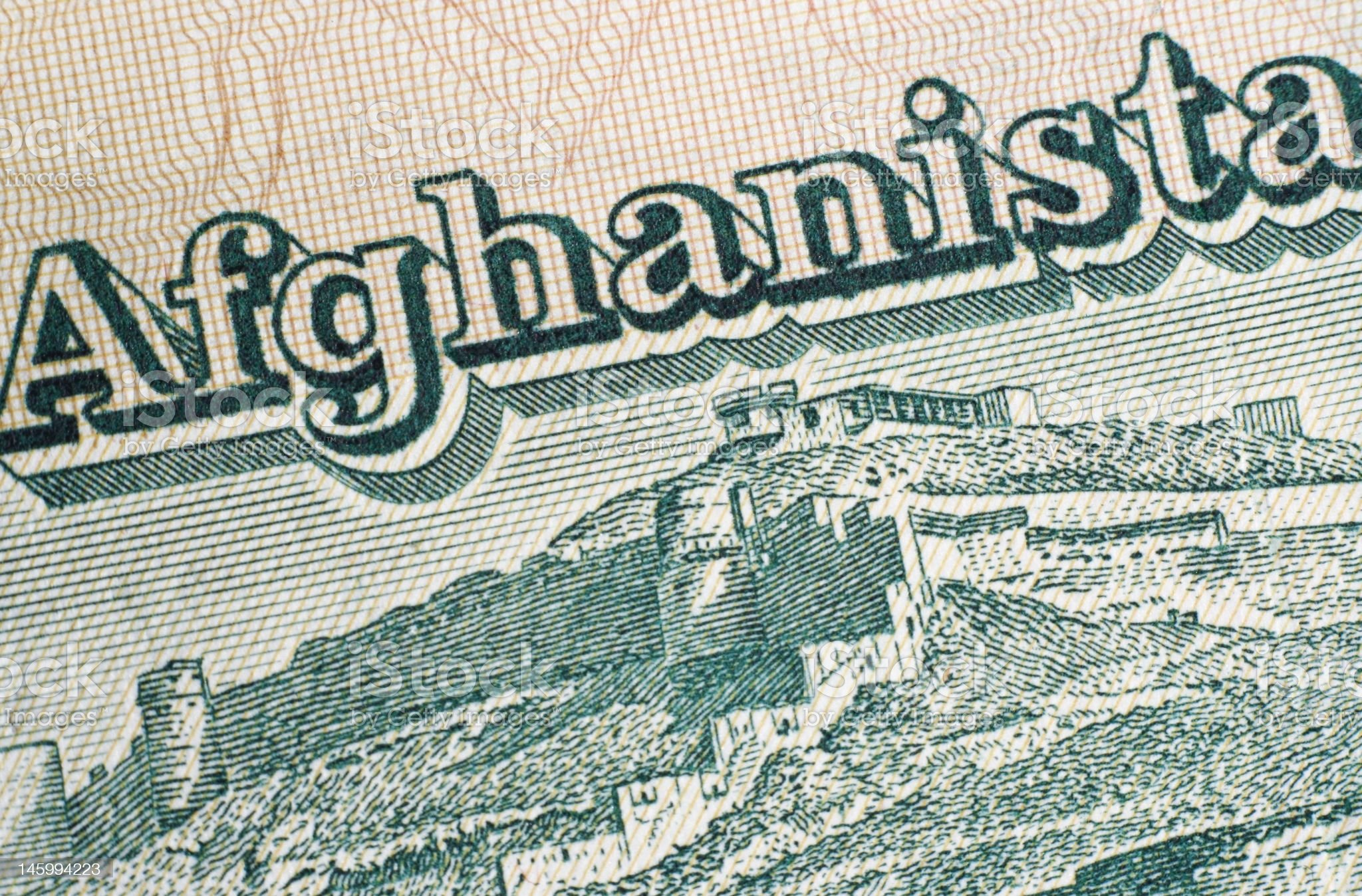 Afghanistan bank note royalty-free stock photo