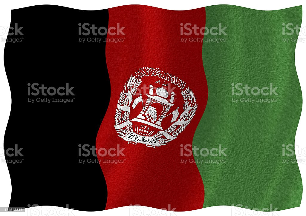 afghanistan flag royalty-free stock photo