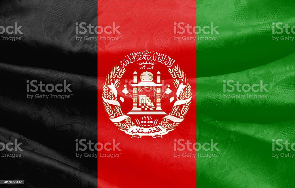 Afghanistan flag stock photo