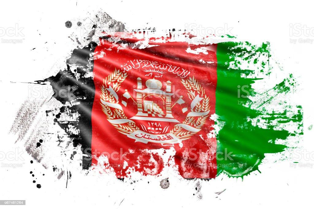 Afghanistan Ink Grunge Flag stock photo