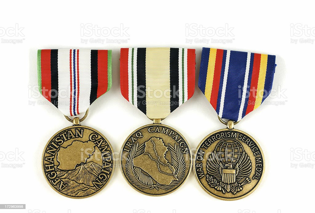 US Afghanistan, Iraq and War on Terrorism Medals royalty-free stock photo
