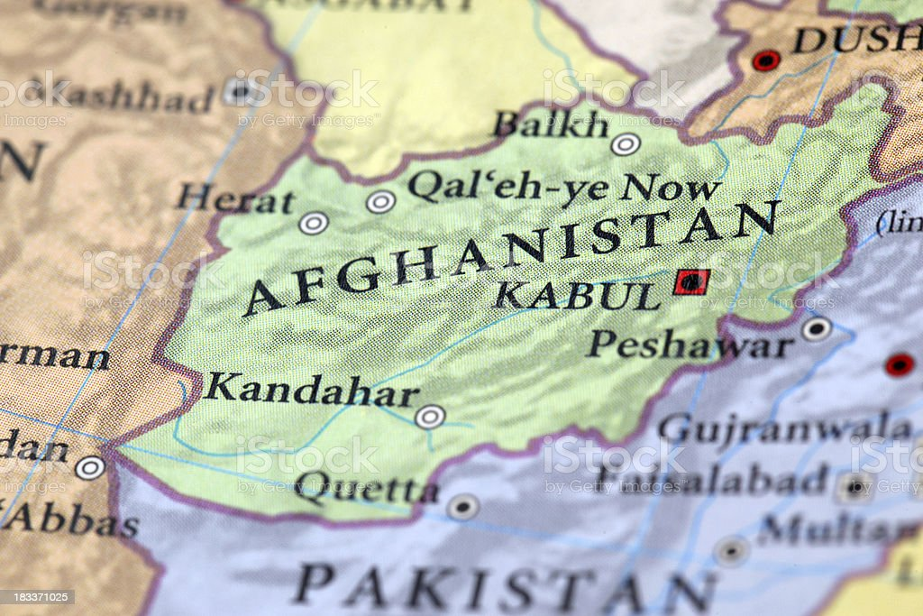 Afghanistan Map stock photo