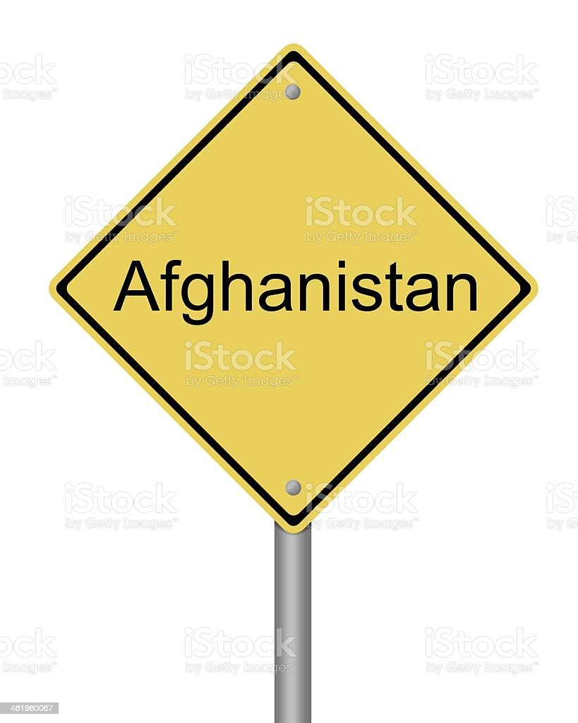 Afghanistan Road Sign royalty-free stock photo