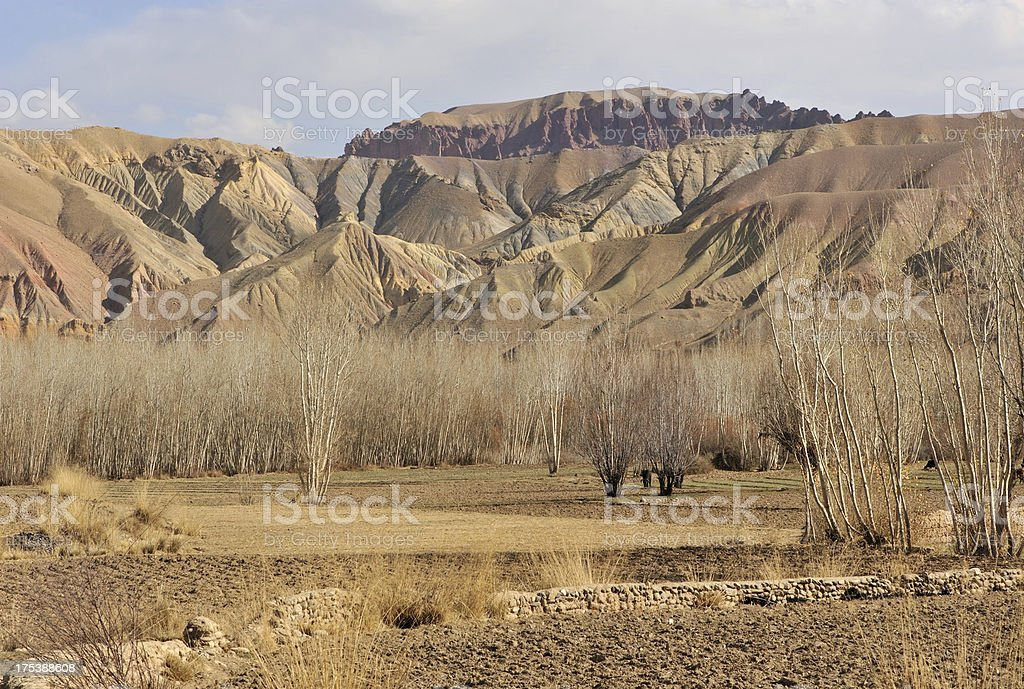 Afghanistan rural landscape stock photo