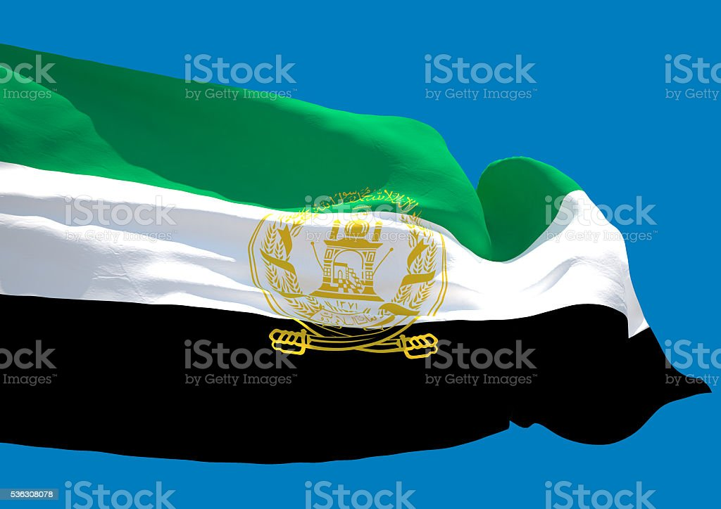 Afghanistan wave flag HD stock photo