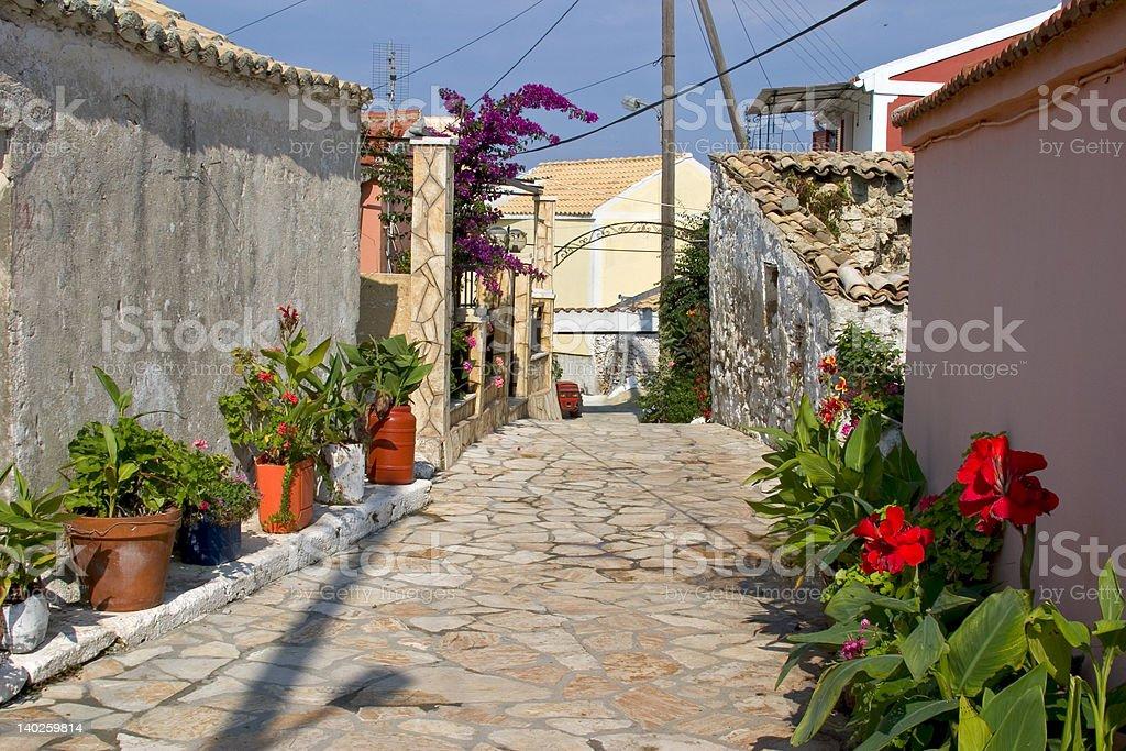 Afionas, Corfu, Greece royalty-free stock photo