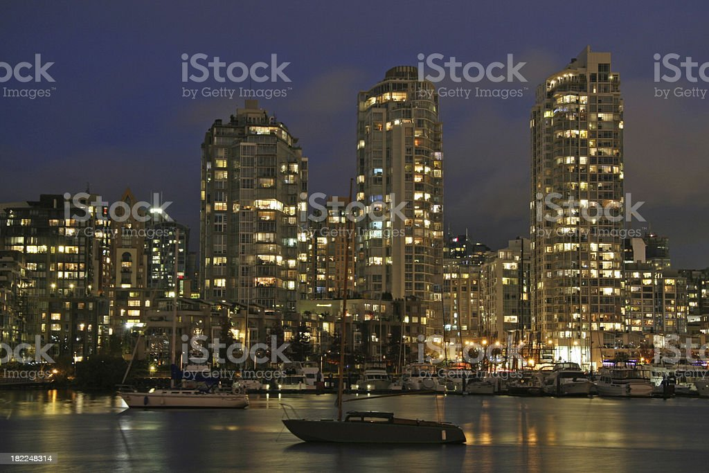 Afloat in Vancouver royalty-free stock photo