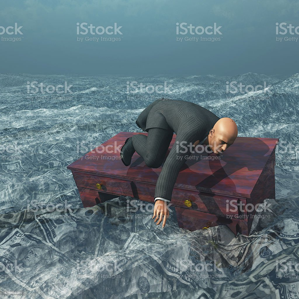 Afloat stock photo