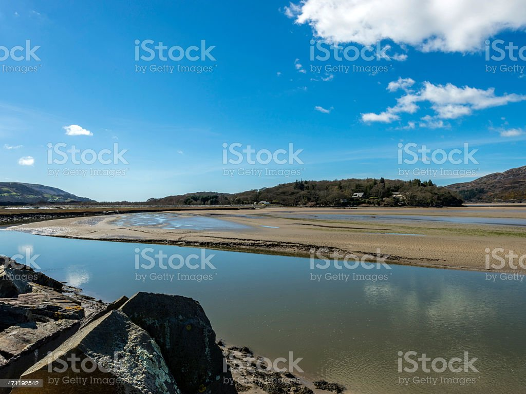 Afon Mawddach Landscape stock photo