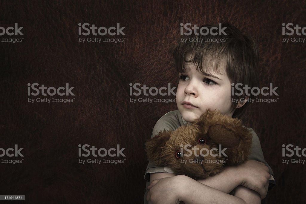 Afraid Child stock photo