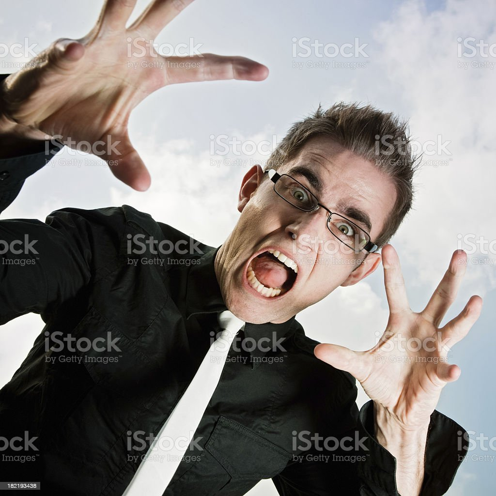 Afraid, Frightened Young Man stock photo