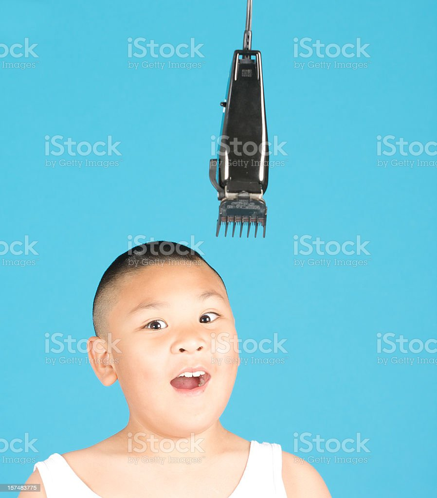 afraid of another haircut royalty-free stock photo