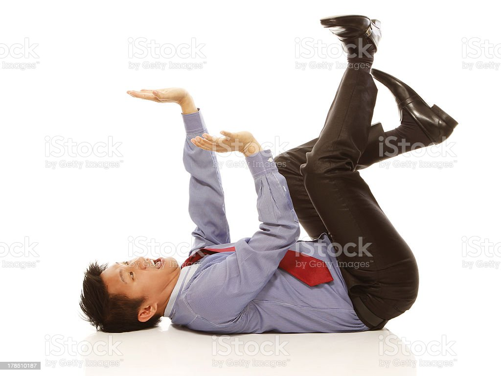 Afraid of Being Crushed royalty-free stock photo