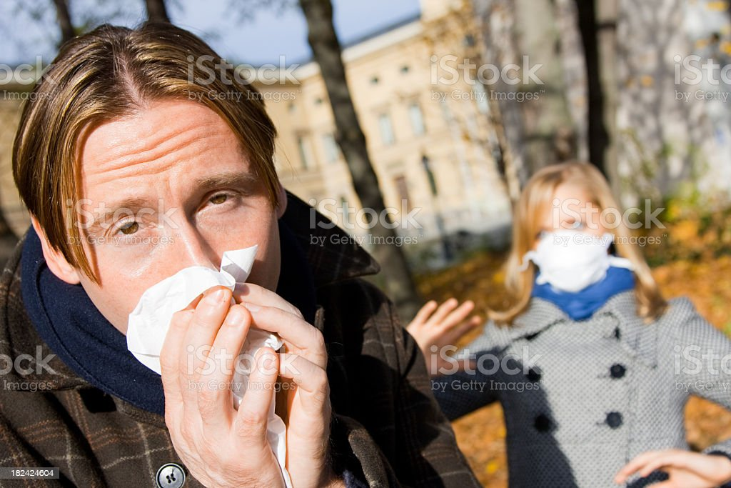 afraid of contagion royalty-free stock photo