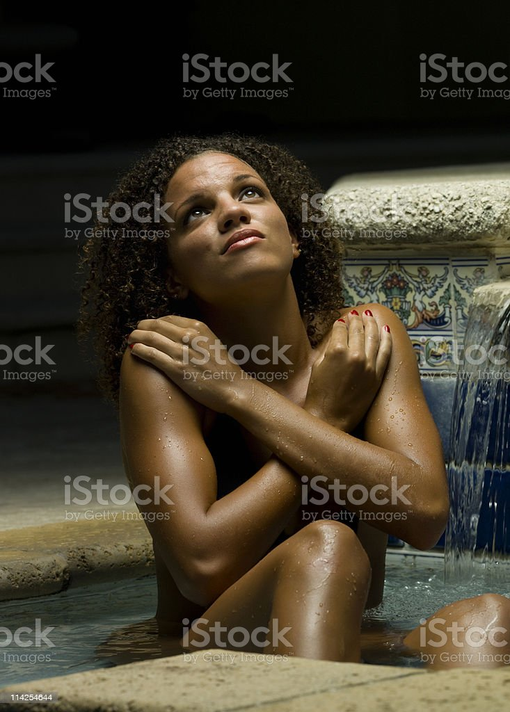 Afraid of darkness royalty-free stock photo