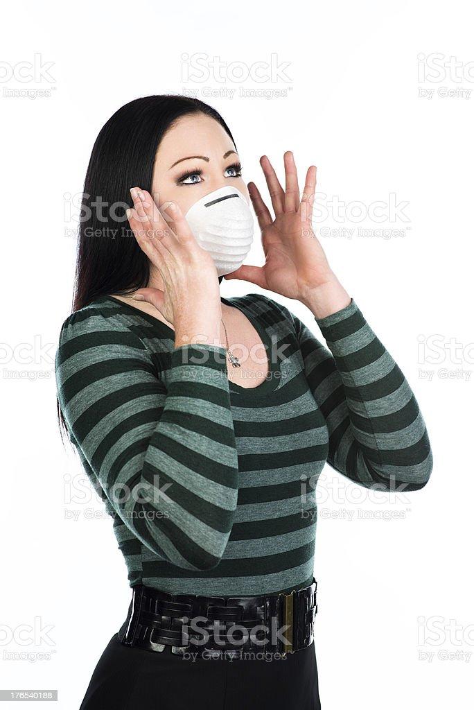 Afraid of the Flu royalty-free stock photo