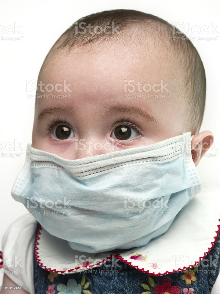 Afraid of the Swine Flu stock photo