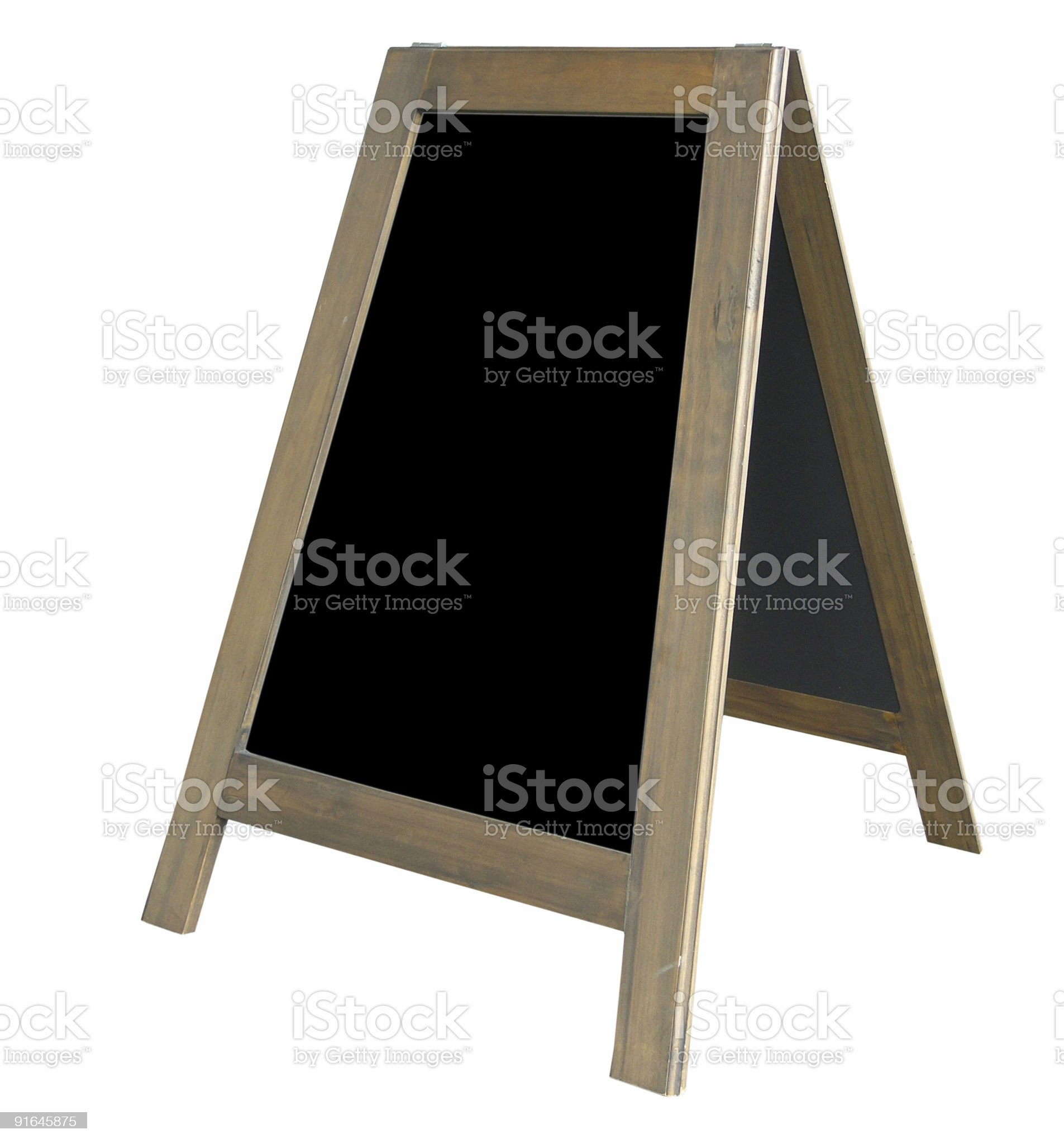 A-Frame Notice Board royalty-free stock photo