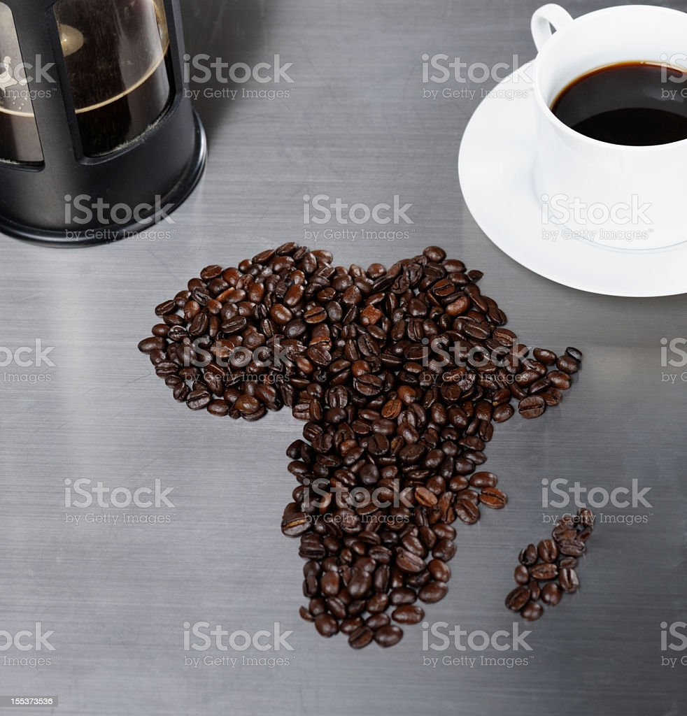 Africa And Coffee stock photo