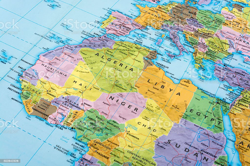Africa and Europe stock photo