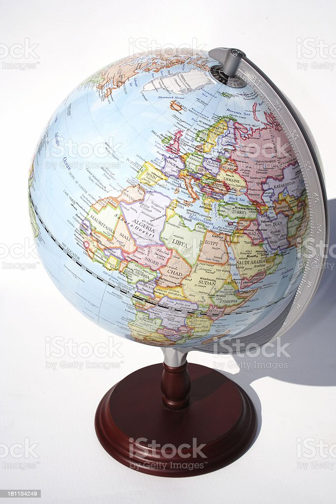 Africa and Europe world globe royalty-free stock photo