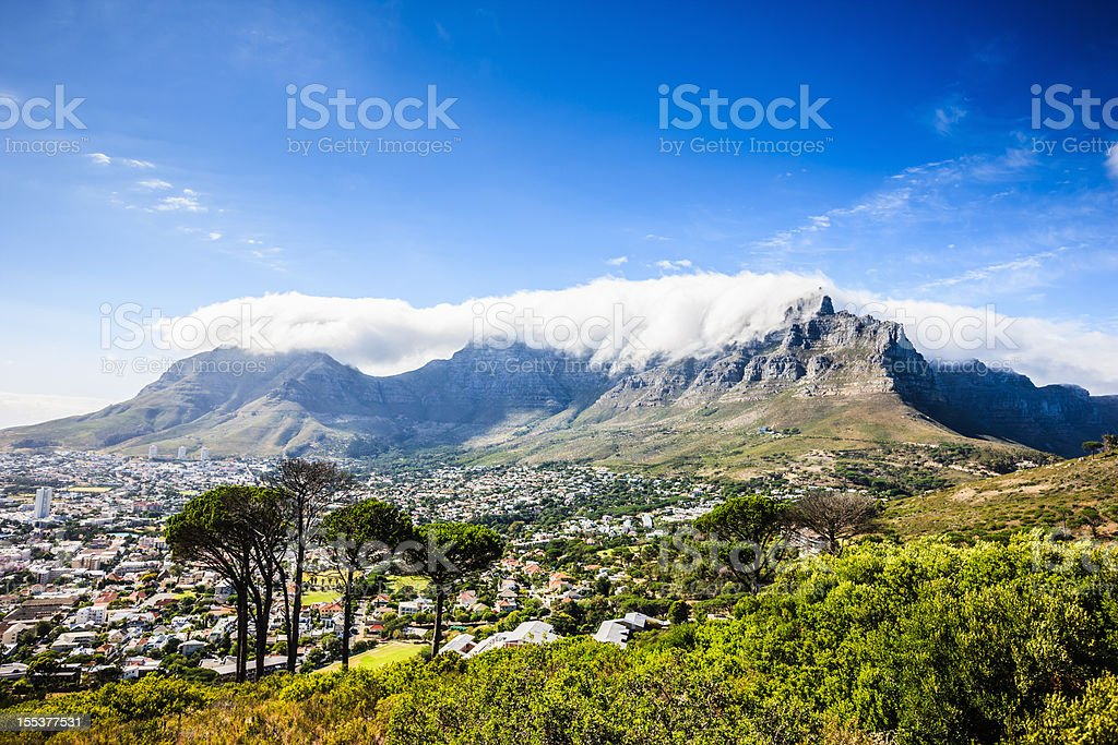 Africa Cape Town City and Table Mountains stock photo
