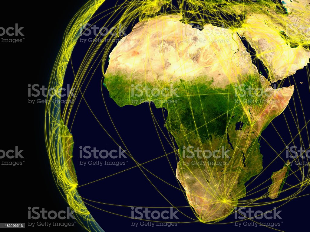 Africa connections stock photo