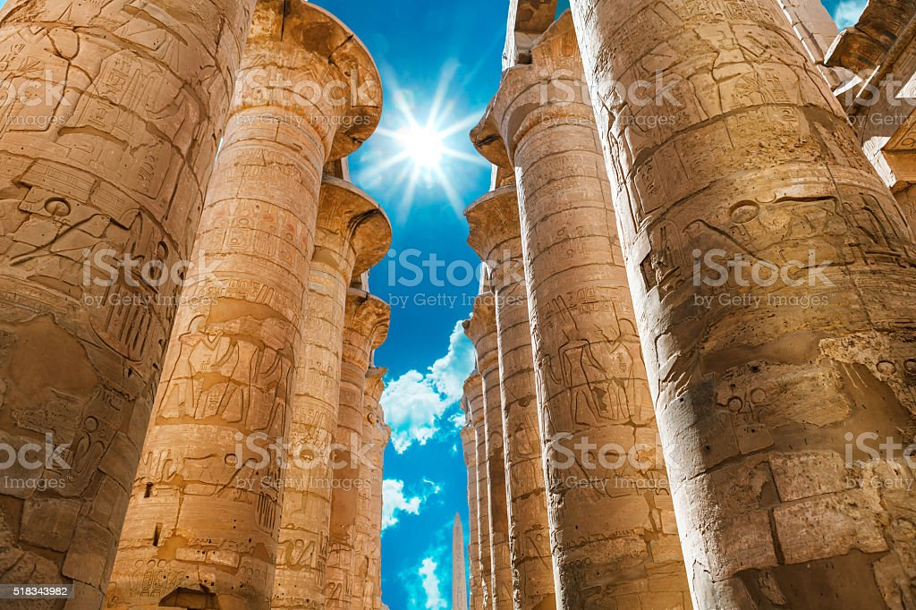 Africa, Egypt, Luxor, Karnak temple stock photo